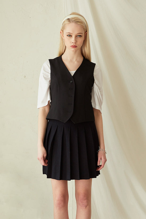 Eloise Button Down Vest