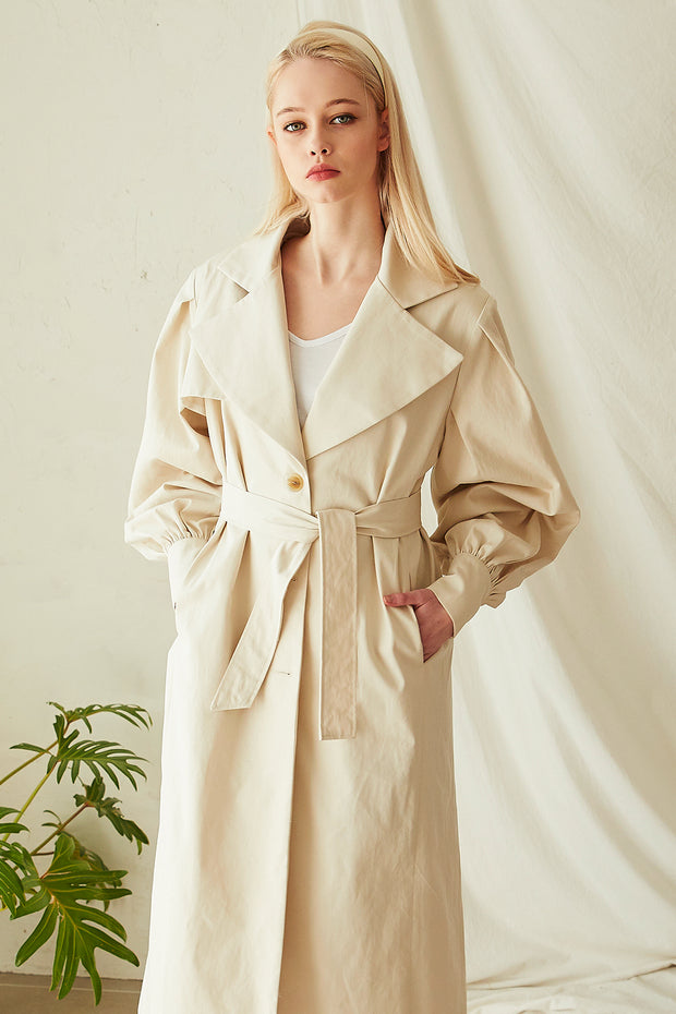 Rebecca Puff Sleeve Trench Coat