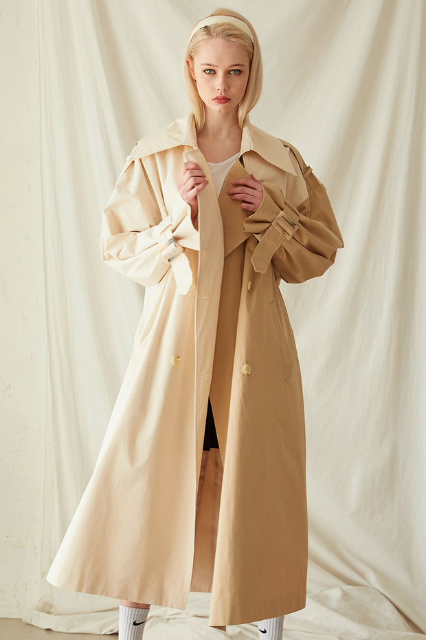 storets.com Brianna Colorblock Trench Coat