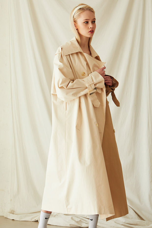 Brianna Colorblock Trench Coat
