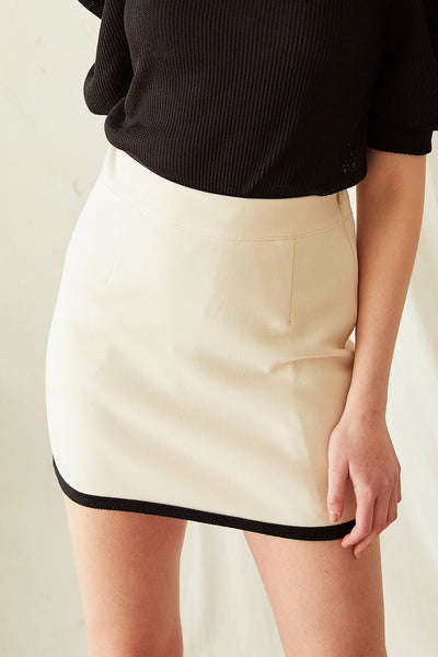 Zuri Contrast Trim Skirt