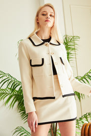 Zuri Contrast Trim Jacket