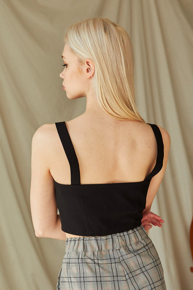 Parker Button Down Crop Top