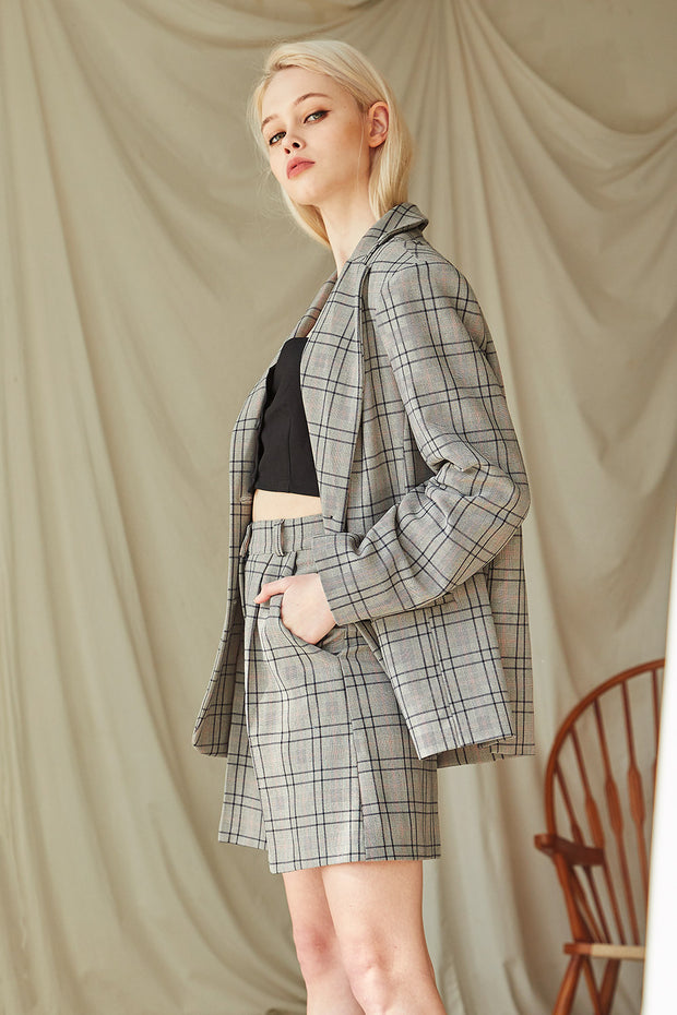 storets.com Paige Plaid Boyfriend Jacket