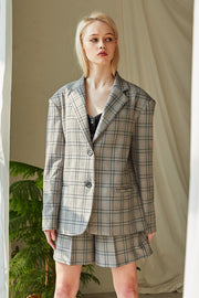 Paige Plaid Boyfriend Jacket