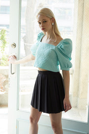 storets.com Aliyah Embossed Crop Top