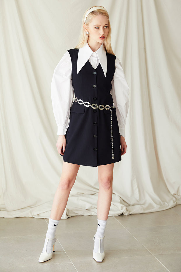 Harper Button Down Sleeveless Dress