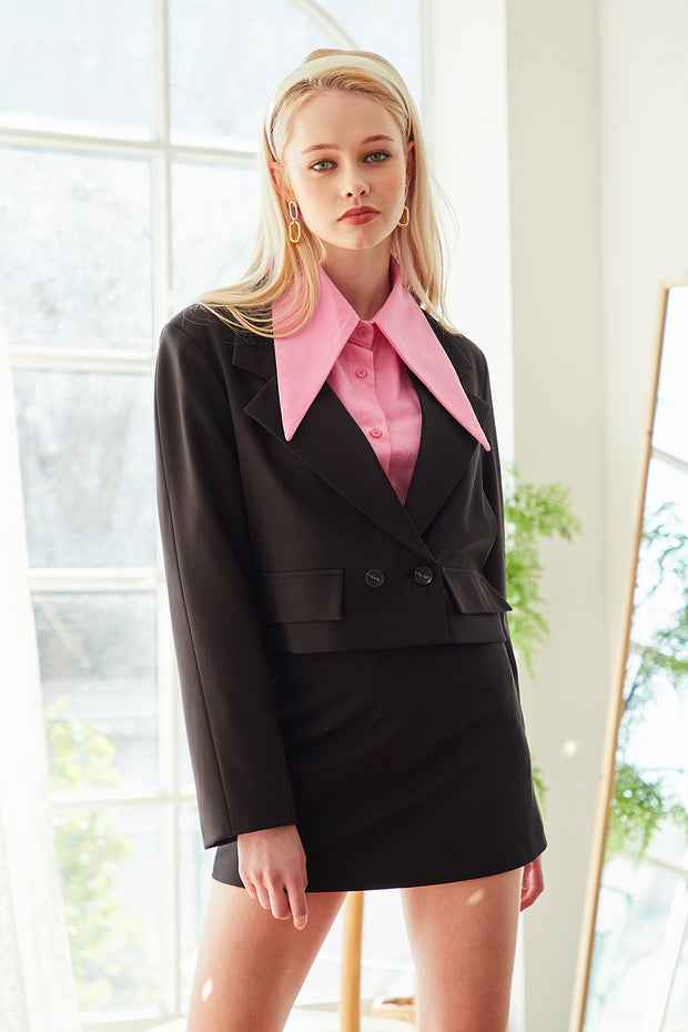 storets.com Olivia Crop Jacket And Skirt Set