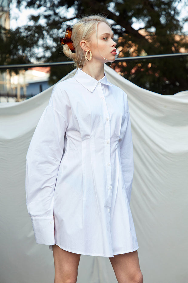 Blair Pintuck Shirt Dress
