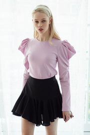 Freya Ruched Puff Sleeve Top