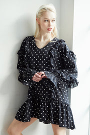 Gemma Polka Dot Ruffle Dress