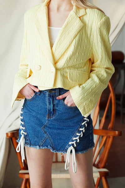 Kate Eyelet Denim Skirt