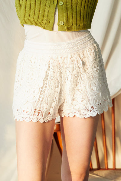 Riley Crochet Lace Shorts