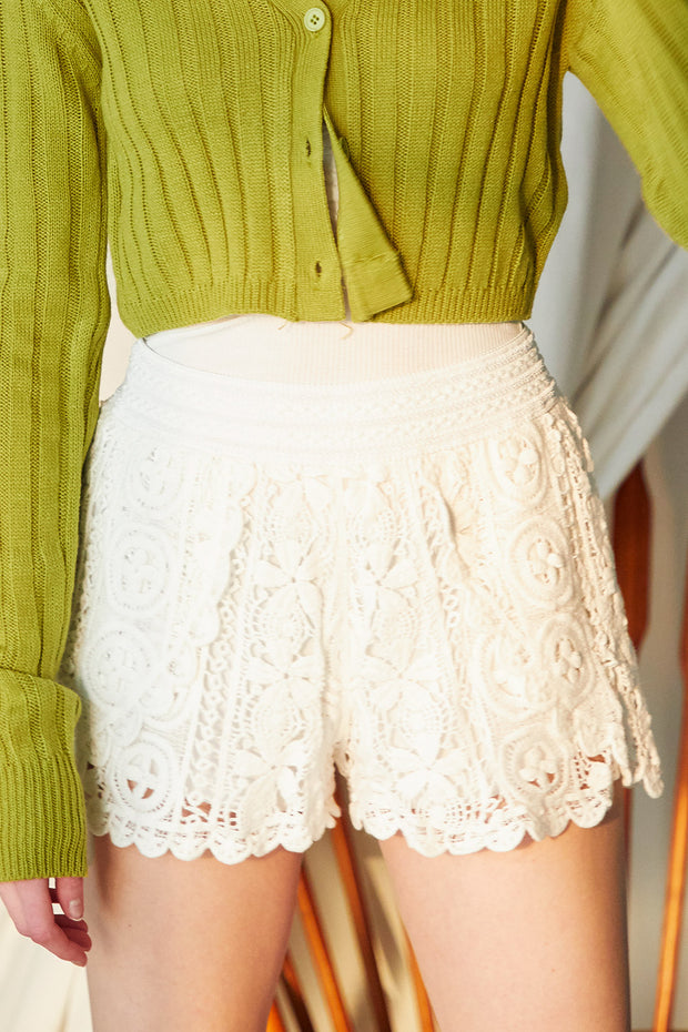 storets.com Riley Crochet Lace Shorts