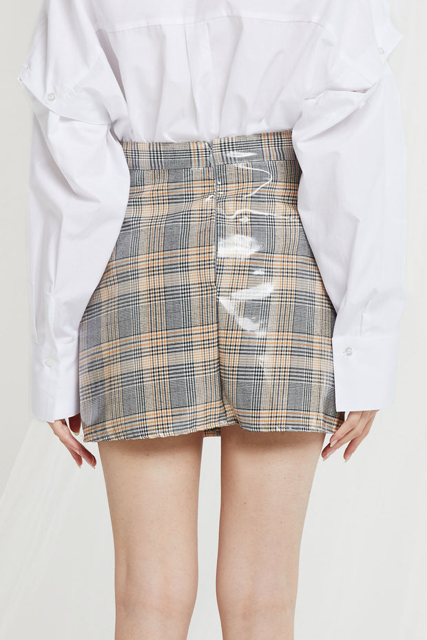 storets.com Celeste Coated Plaid Skort-2 Colors