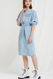 Xander Frayed Denim Dress