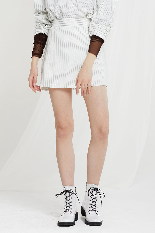 storets.com Eleanor Pinstripe Shirt and Skirt Set