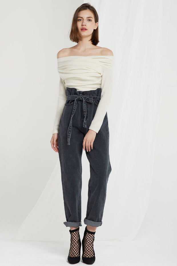 Joselyn Paperbag Belt Jeans