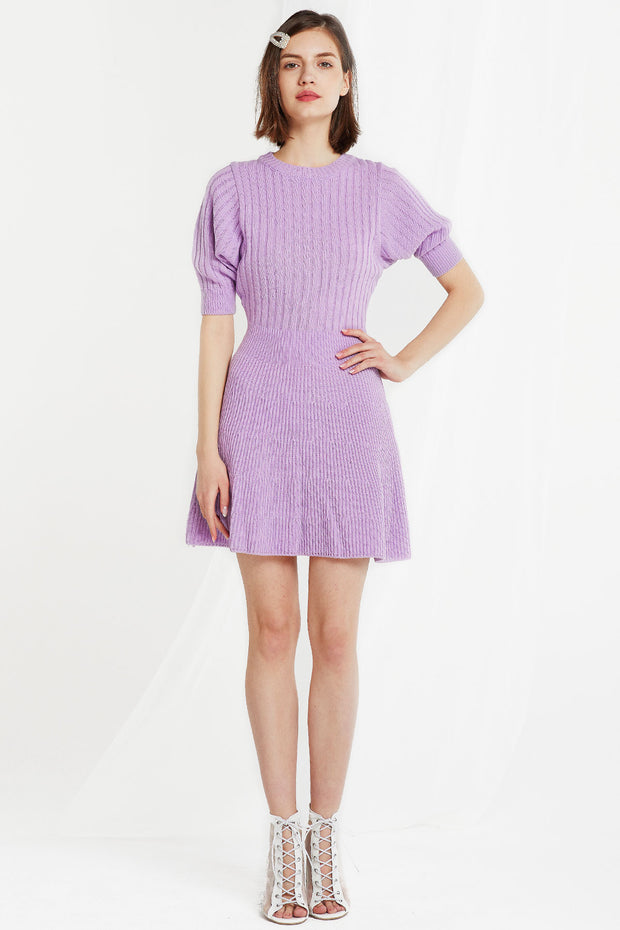 Bianca Puff Sleeve Knit Dress-2 Colors