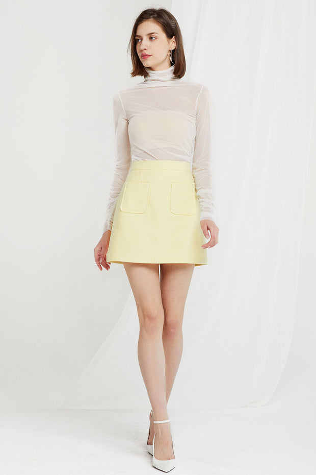 storets.com Siena Pocket Mini Skirt-2 Colors