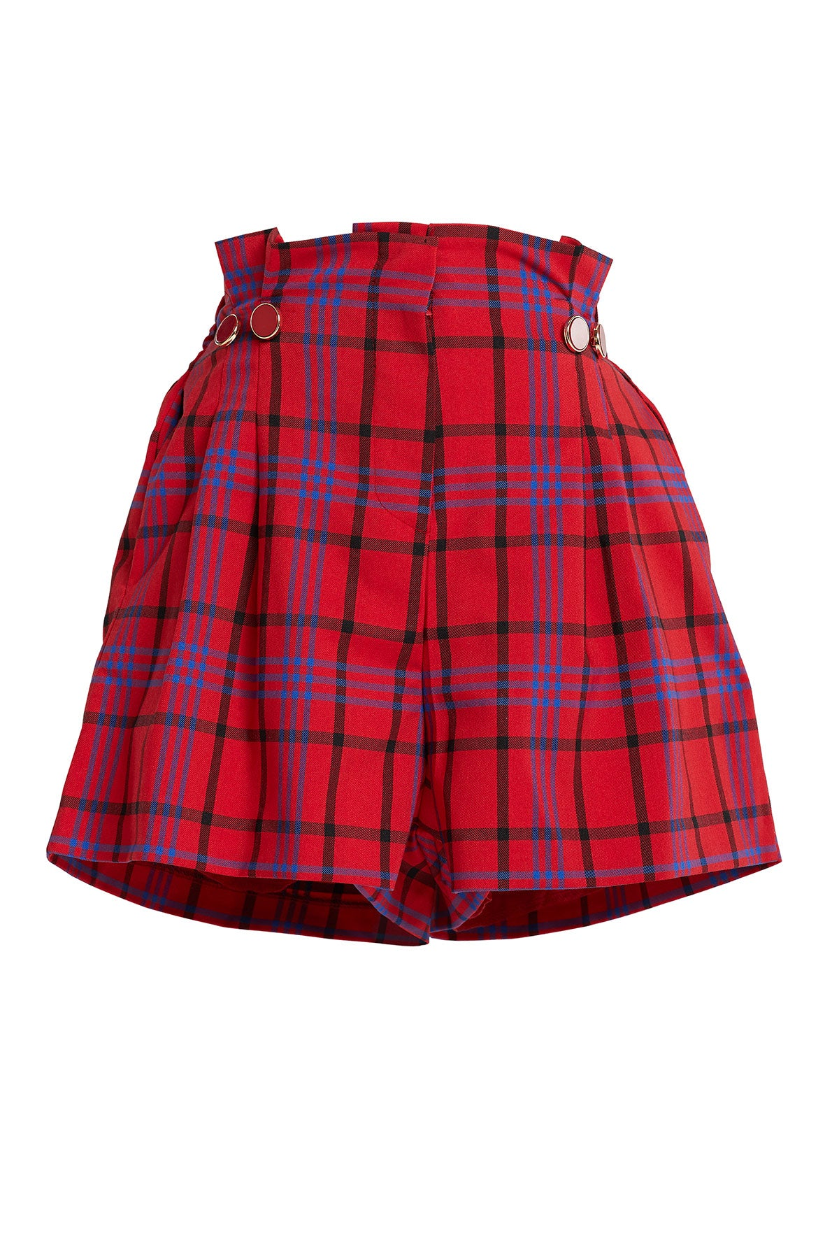 Nava Plaid Flare Shorts-2 Colors (Pre-Order)