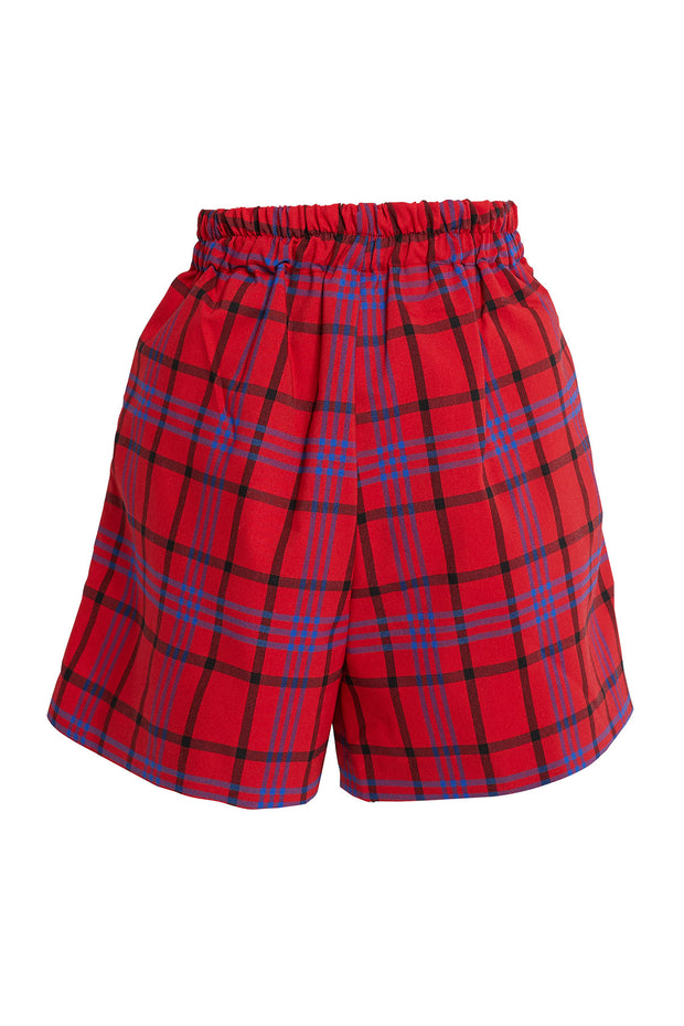 Nava Plaid Flare Shorts-2 Colors