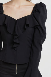 Maisia Square Neck Puff Sleeve Blouse-2 Colors