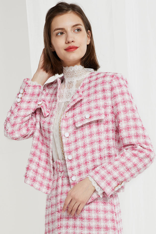 Zenia Grid Tweed Jacket