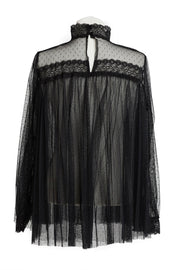 Wren Sheer Mesh Lace Blouse-2 Colors