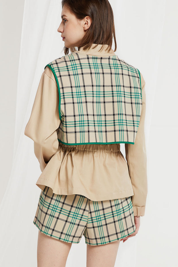 Nava Plaid Utility Jacket-2 Colors