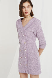 Delaney Double Breast Dress in Tweed