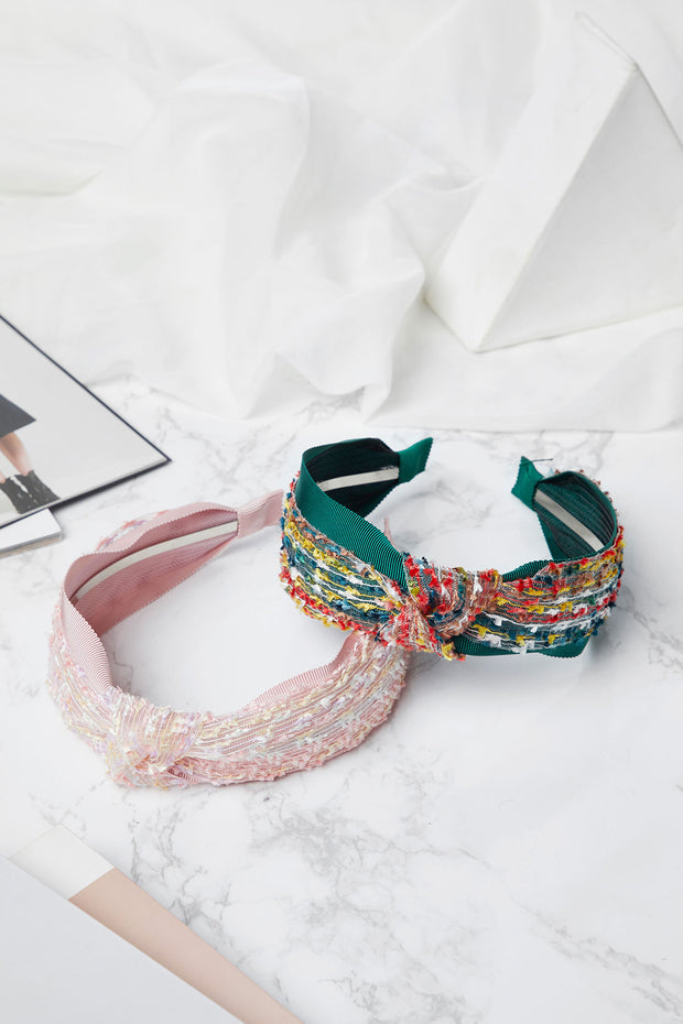 Tweed Knot Headband-2 Colors