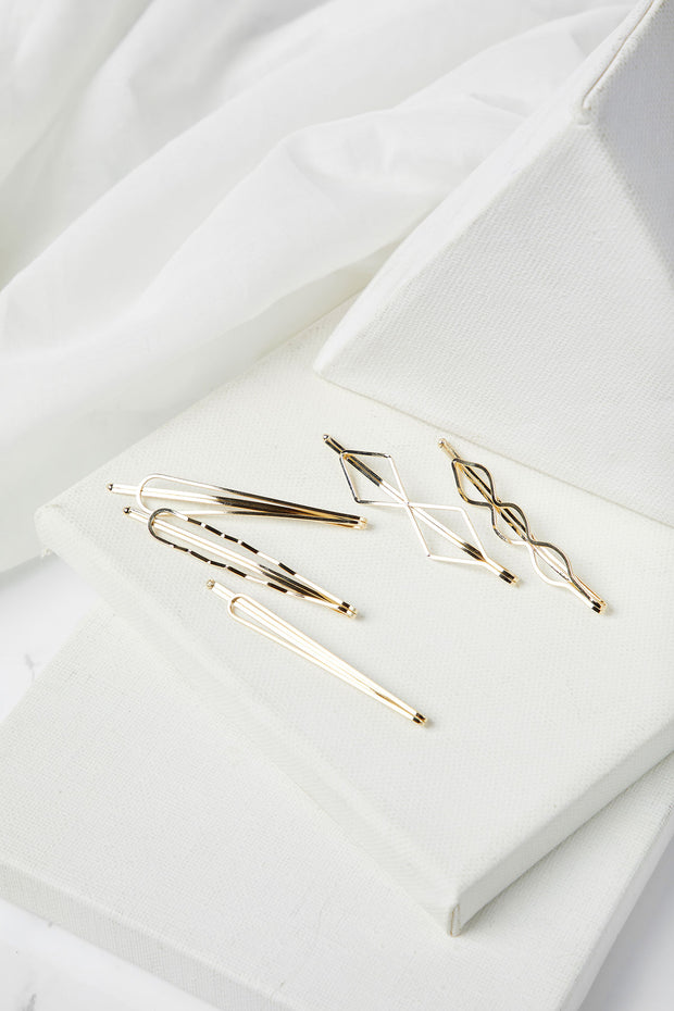 Polygon Hair Pin Set