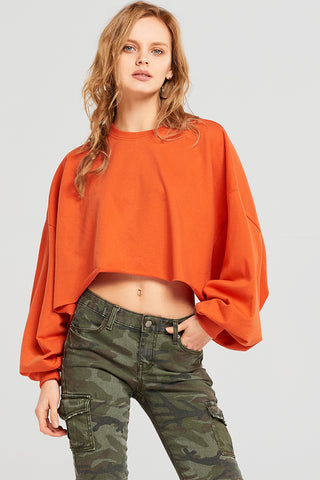Izzy Cropped Wide Sleeve Sweatshirt