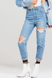 Lori Ripped Mother Jeans