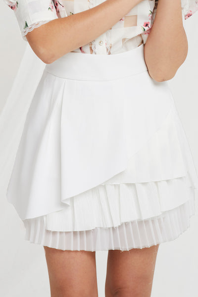 storets.com Megin Tiered Pleats Skirt