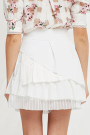 Megin Tiered Pleats Skirt
