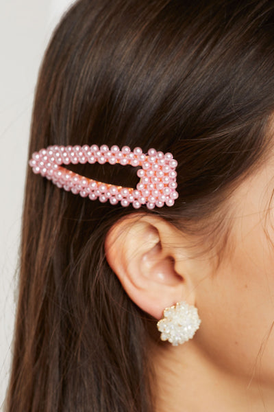 storets.com Color Pop Pearl Beaded Hair Clip-3 Colors