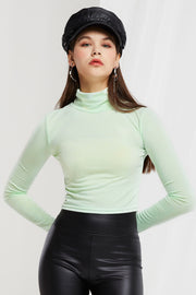 Ura Turtleneck Crop Top