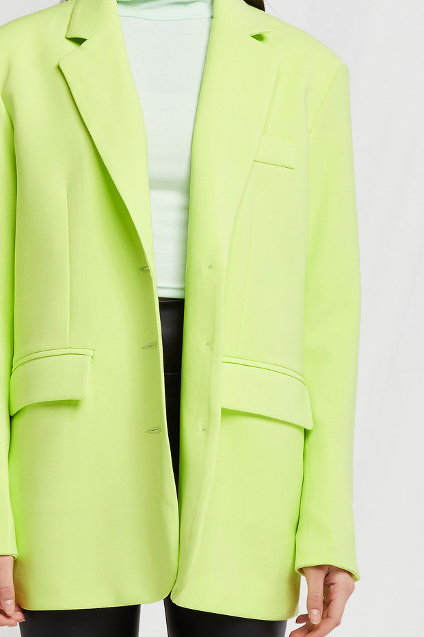 storets.com Amore Oversized Blazer in Lime