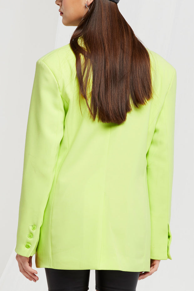 Amore Oversized Blazer in Lime