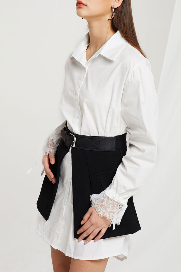 storets.com Rusty Shirt Dress And Overlay Skirt Set
