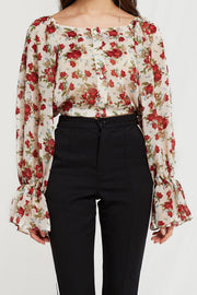 Goldie Rose Printed Two Way Crop Top