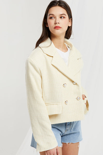 Rookie Crop Blazer in Tweed