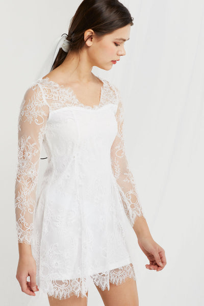 Raven Lace Overlay Dress
