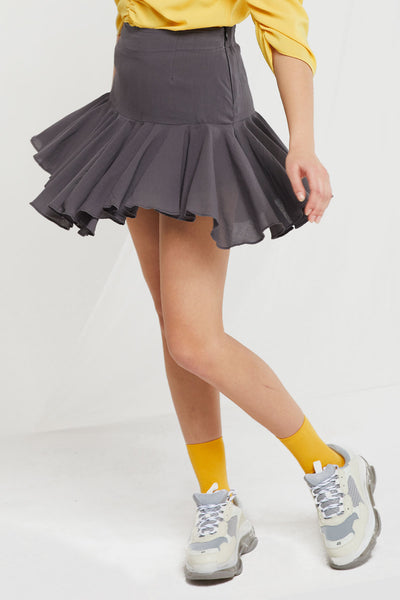 Jeny Flounced Ruffle Skirt