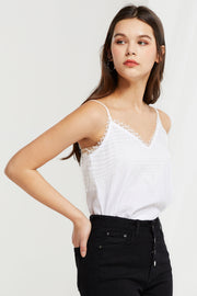 Kennedy Mesh Overlay Cami Top