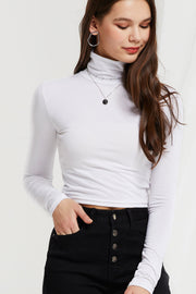 Ura High Neck Crop Top