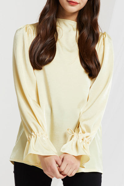 Fannie Poet Sleeve Satin Blouse