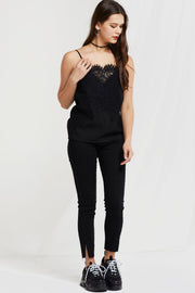 Whitney Lace Overlay Cami Top